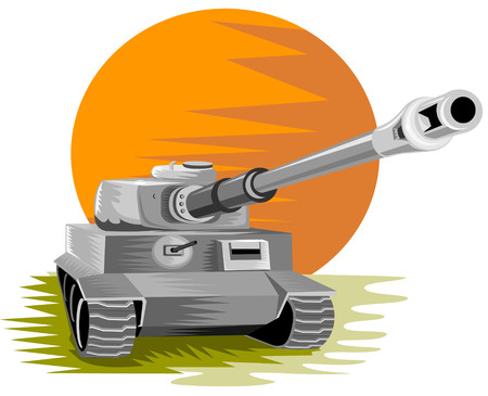Battle tank Stock Vector - 2355114