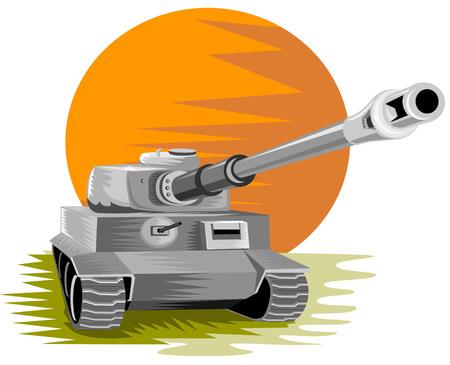 Battle tank Stock Vector - 2355114