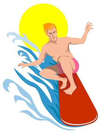 Surfer sur les grandes ondes  Banque d'images - 2413033