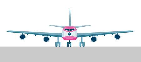 jumbo: Jumbo jet plane with landing gear