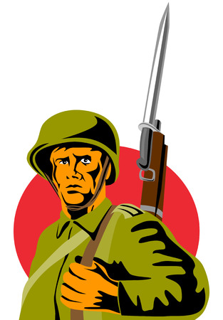 Soldier with bayonet Stock Vector - 2413439
