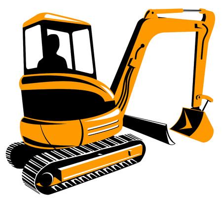 Mechanische Digger Vector Illustratie