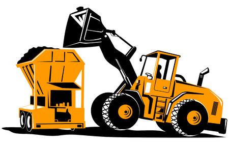front loader: Cargador frontal Vectores