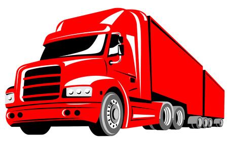 forwarding: Truck isolated on white background