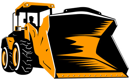 Front loader Stock Vector - 2521527
