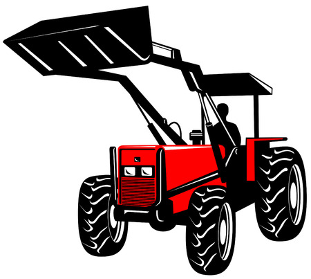Front loader Stock Vector - 2546082