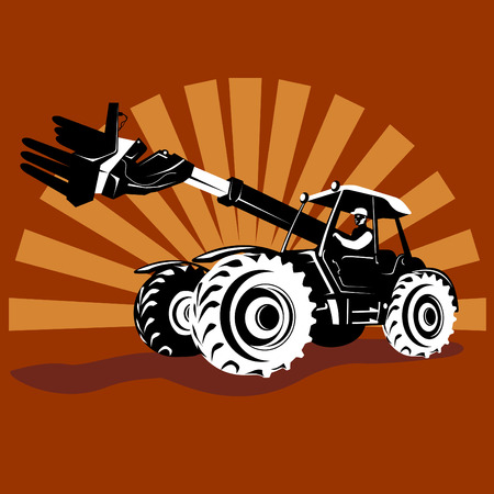 tractor with telescopic handler Stock Vector - 2546087