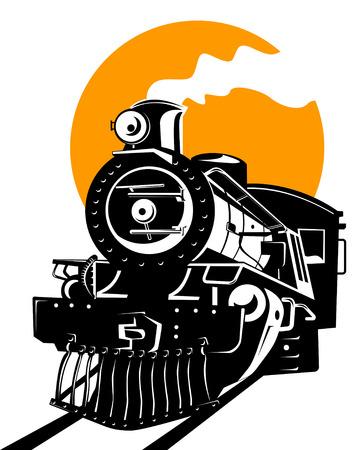 Steam locomotive Stock Vector - 2546083