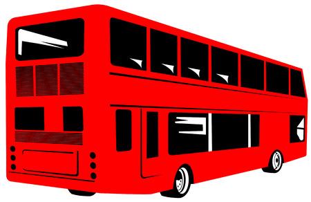 decker: Red double decker bus
