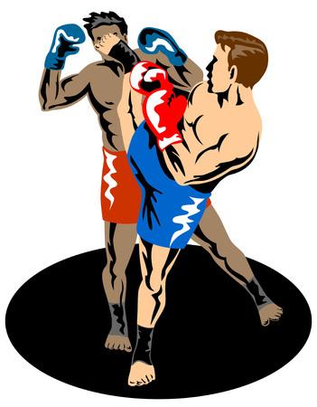 knockout: Kick boxing Illustration