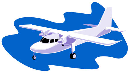 Propeller airplane Stock Vector - 2665610