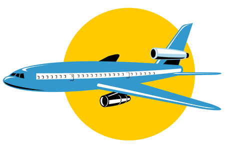 jumbo: Jumbo jet plane on white Illustration