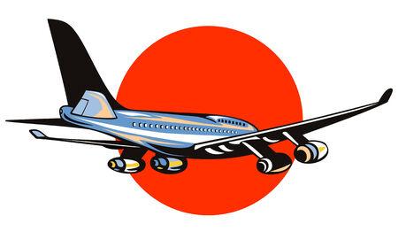 Jumbo jet plane Stock Vector - 2732694