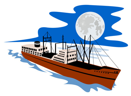 Passenger ship Vector