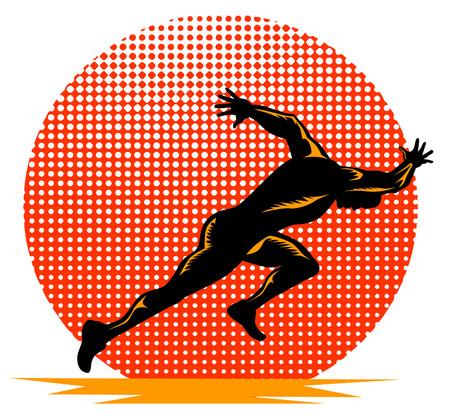 running track: Sprinter beginnen uitvoeren