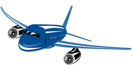jumbo: Jumbo jet plane flying Illustration