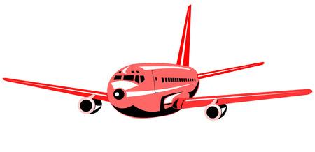 jumbo: Jumbo jet plane flying Illustration