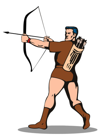 outlaw: Robin Hood with bow and arrow
