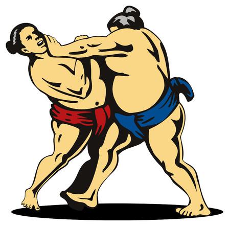 Sumo wrestling Vector