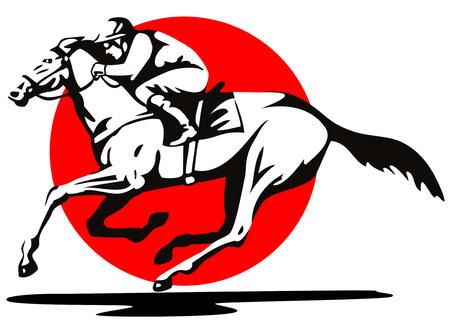 馬のレース  イラスト・ベクター素材