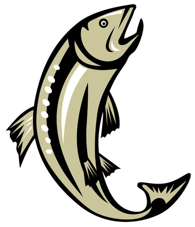 Trout jumping Stock Vector - 2908965