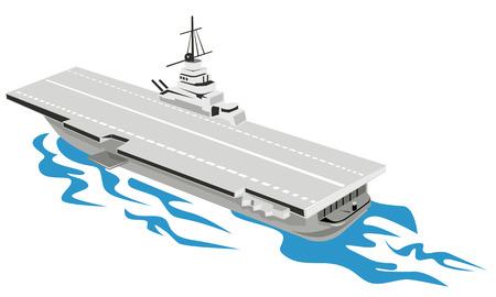 World War Two Aircraft carrier  Vector