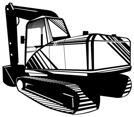 roadworks: Mechanical digger