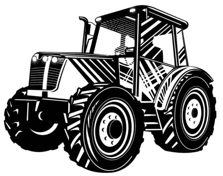earth mover: Tractor Illustration