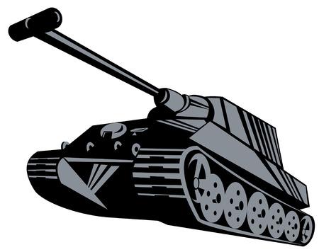 Battle tank Stock Vector - 3081104