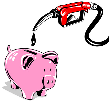 Gas pump and piggy bank Stock Vector - 3081118
