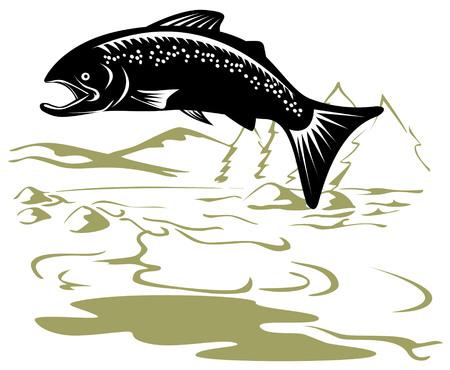 Salmone jumping