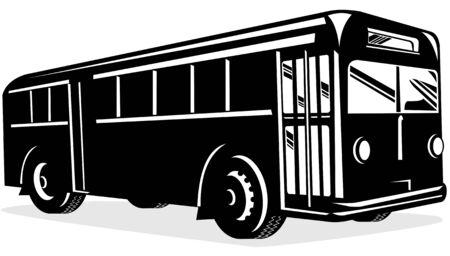 Retro style coach bus Stock Vector - 3119033