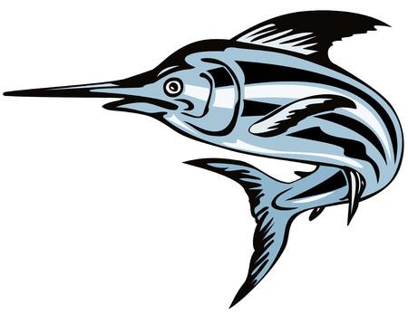 pez espada: Blue Marlin  Vectores