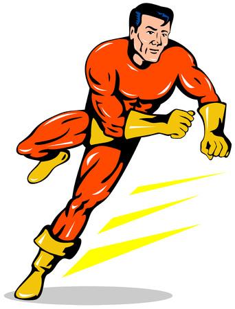 Superhero running Vector