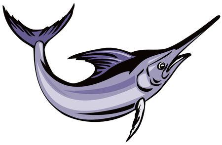 Blue marlin Vector
