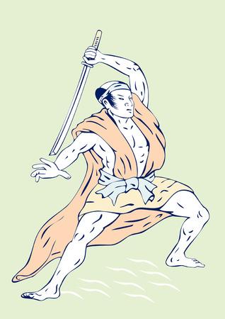Samurai warr Stock Vector - 3119059
