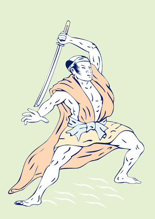 Samurai warrior Stock Vector - 3119059