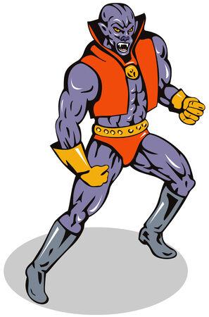 villain: Superhero Illustration