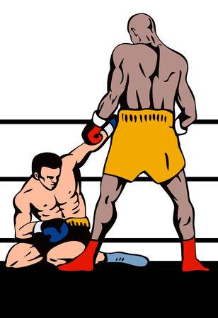 challenger: Boxer standing over challenger