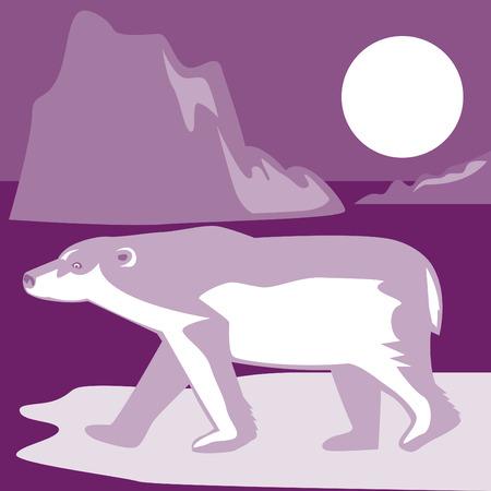 Polar bear in the arctic Vector
