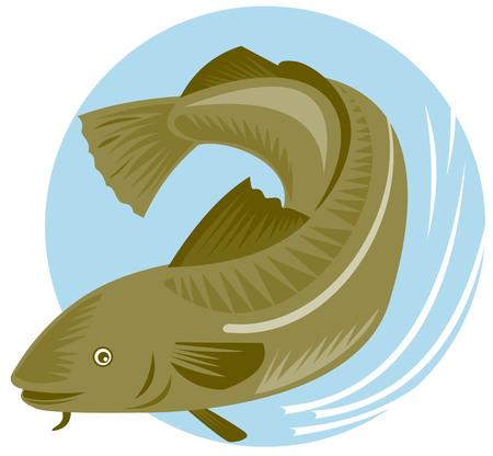 tail fin: El bacalao del Atl�ntico  Vectores