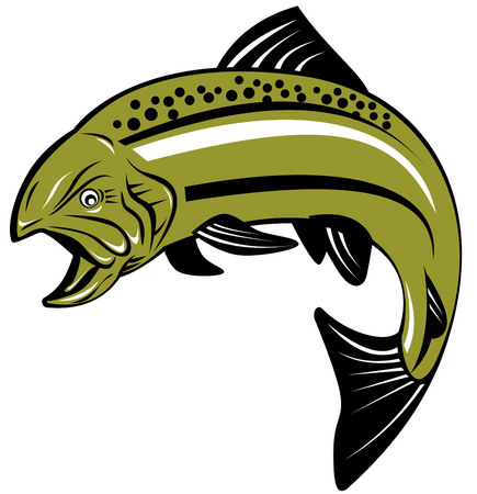 6 296 trout stock vector illustration and royalty free trout clipart rh 123rf com brown trout clip art trout clip art black and white