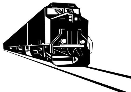 eisenbahn: Diesel Zug Illustration