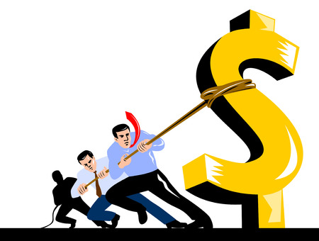 Men bring down dollar