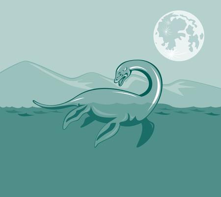 Loch Ness monster Vector