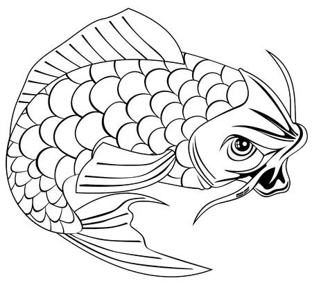 tail fin: Carpa Koi
