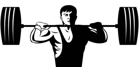 snatch: Weightlifter Illustration
