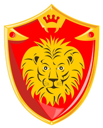 Medieval shield with lion Vector