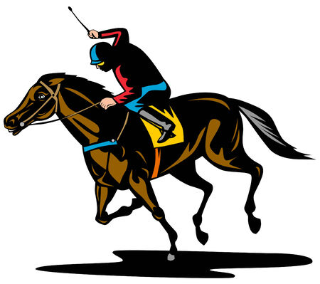 jockeys: Horse racing Illustration