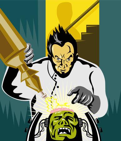 uitvinder: Dr. Frankenstein aan het werk